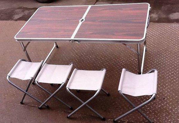 Стол походный складной с 4-мя стульями кейс